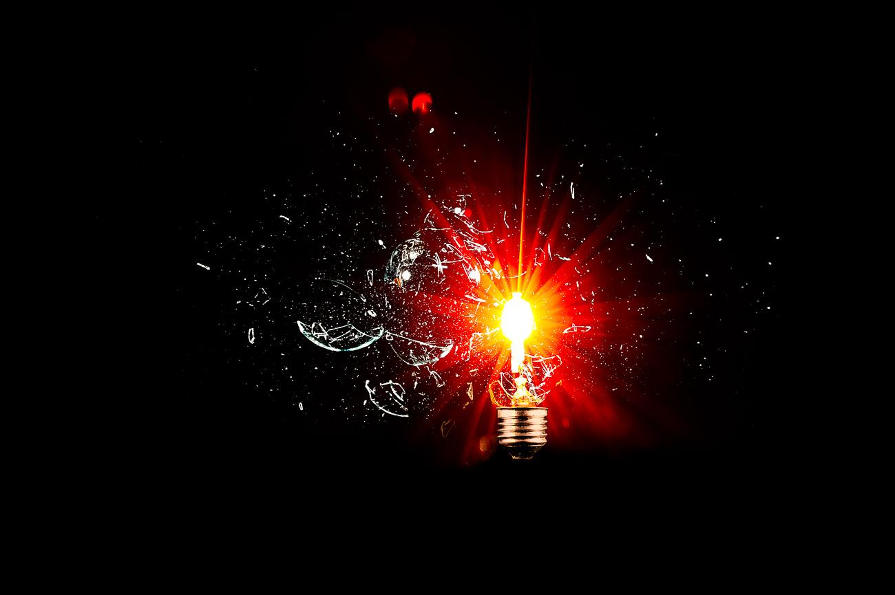Exploderande lampa